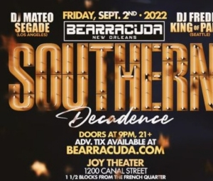 cover event Bearracuda Southern Decadence - postponed till 2022